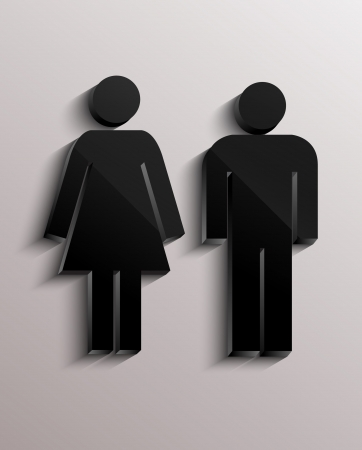 unisex: Man and woman sign