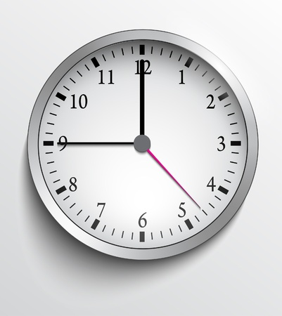 Wall clock Stock Vector - 20259275