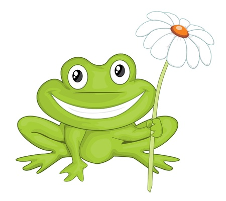 frog jump: Cartoon frog