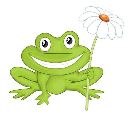 grenouille: grenouille de bande dessinée Illustration