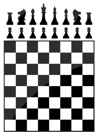 pawn king: Chess table Illustration