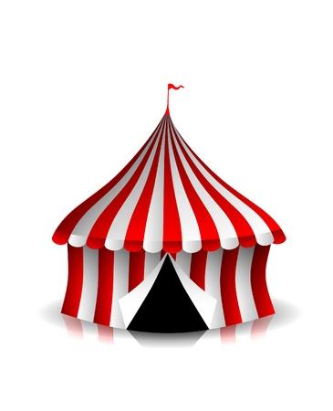 палатка: Большая палатка Иллюстрация