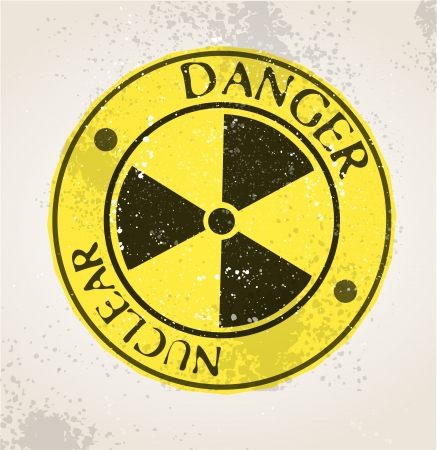 Grunge nuclear sign Stock Vector - 20259261