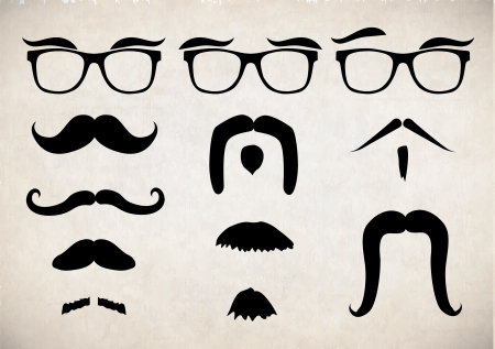 whisker: Mustache set Illustration