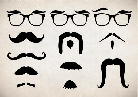 Mustache set Ilustracja