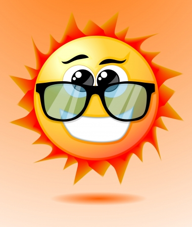 Cute cartoon sun Vector