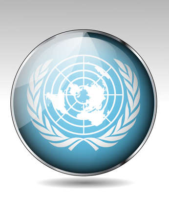United Nations flag button Stock Vector - 20259233