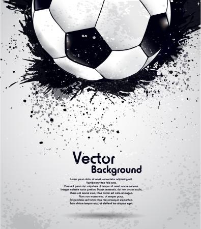 グランジ サッカー ボールの背景