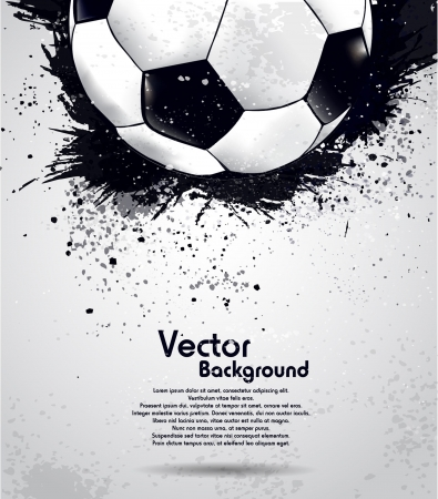 Grunge soccer ball background Ilustrace