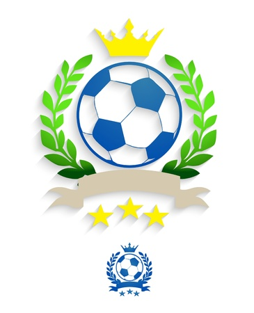 Soccer laurel wreath Vector