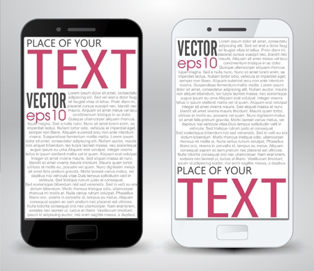 Smartphone space for the text Illustration