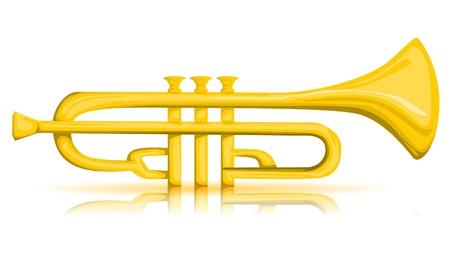Vector trumpet Illustration