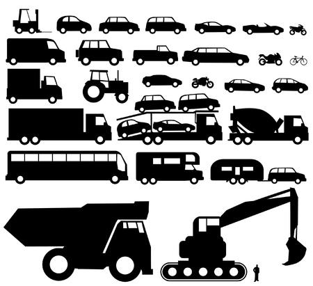 motor de carro: Vector de la silueta del vehículo