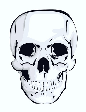 Abstract skull Vector