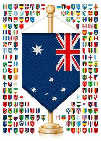 bandera de croacia: Flagstaff con banderas
