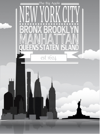 New York background Vector