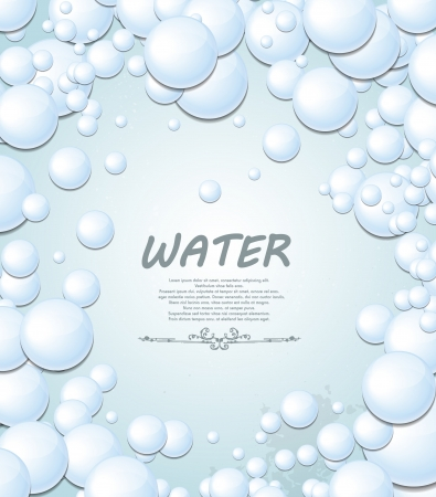 bubble bath: Bubbles background Illustration