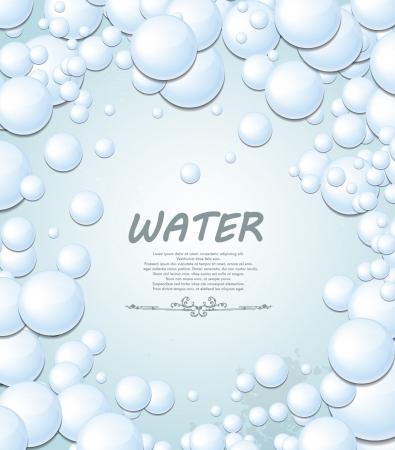 air bubbles: Bubbles background Illustration
