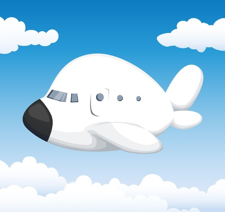 airplane cartoon: Cute cartoon airplane