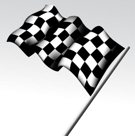 rallying: Bandera a cuadros Vectores