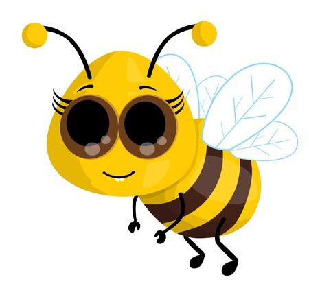 comic wasp: Cute cartoon bee Illustration