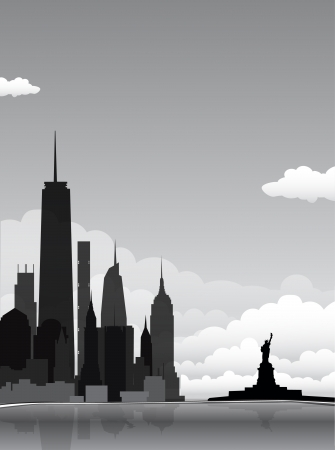 new york skyline: New York background