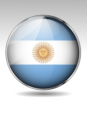 Argentina flag button Stock Vector - 20259368
