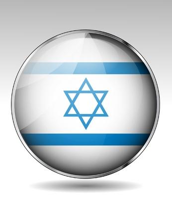 flag of israel: Israel flag button