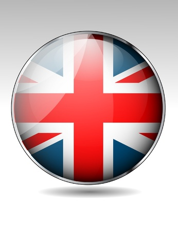 scotland flag: United Kingdom flag button  Illustration