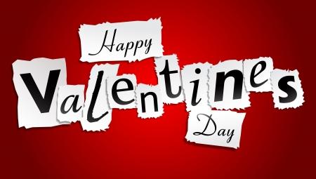 truelove: Paper Valentines Day Illustration