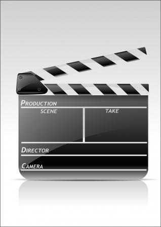 flick: Movie claper Illustration
