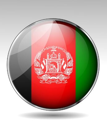 afghan: Afghanistan flag button