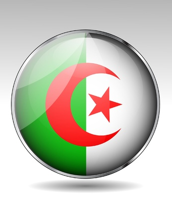 algeria: Algeria flag button