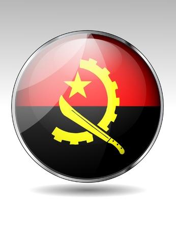 angola: Angola flag button