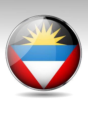 antigua flag: Anitgua and Barbuda flag button Illustration