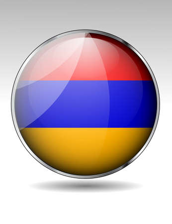 Armenia flag button Stock Vector - 21059891