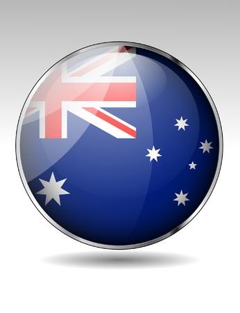 Australia flag button Vector