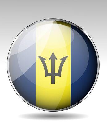 barbados: Barbados flag button