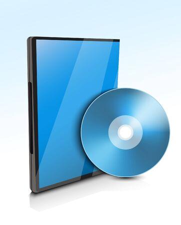 Case for DVD Stock Vector - 21059840