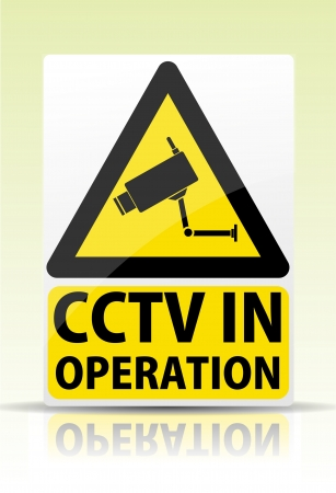 CCTV in operation sign Vector