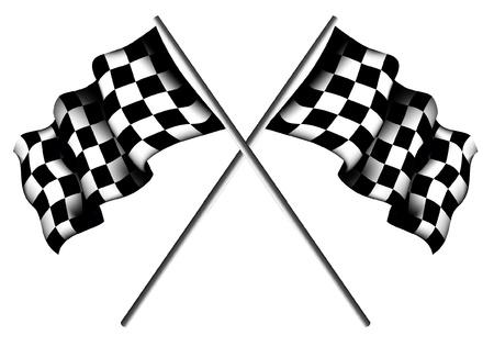 cuadros blanco y negro: Banderas a cuadros