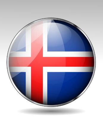 flag of iceland: Islandia icono de la bandera