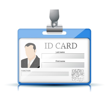 clothing tag: ID Card