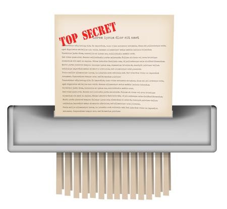 secret identities: Paper shradder