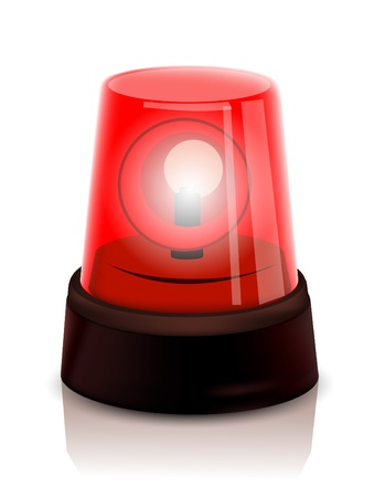 emergency light: Red Police beacon