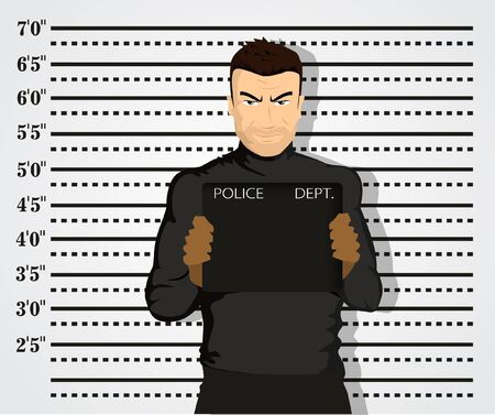 criminal justice: Police mug shot