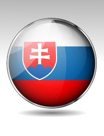 Slovakia flag button Stock Vector - 21059766