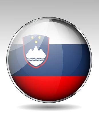 slovenia: Slovenia flag button