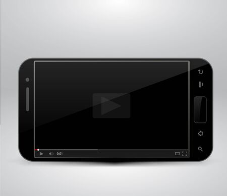 Smartphone with video player Stock Vector - 21059769