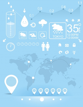 weather map: Weather infographic